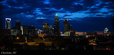 Featured Images Digital Art - Charlotte North Carolina Panoramic Image by Chris Flees