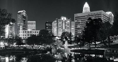Photograph - Charlotte Panoramic In Black And White by Frozen in Time Fine Art Photography