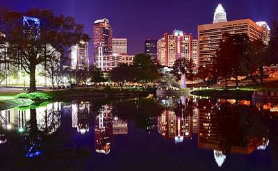 Charlotte Panoramic Reflection Art Print by Frozen in Time Fine Art Photography