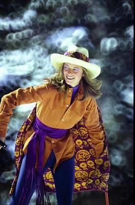 Photograph - Charlotte Rampling Wearing A Cowboy Shirt by Arnaud de Rosnay