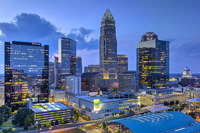 Charlotte Skyline Photograph - Rooftop View by Chris Austin