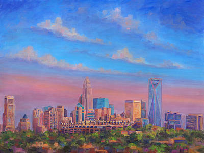 Queen City Skyline Painting - Charlotte Skies by Jeff Pittman
