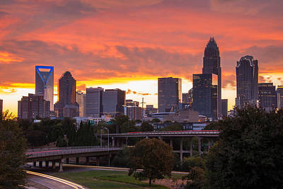 Art Print featuring the photograph Charlotte Sky by Serge Skiba
