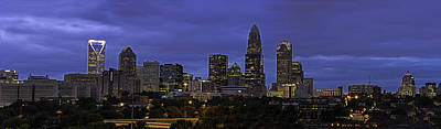 Photograph - Charlotte Skyline 0001 by Donald Brown