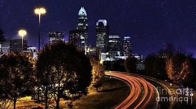 Charlotte Stars And Light Trails Original by Robert Loe