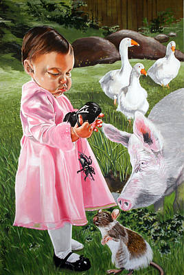 Painting - Charlotte's Web by Belle Massey