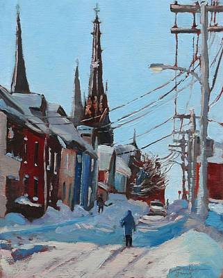 Art Print featuring the painting Charlottetown Winter Morning by Darlene Young