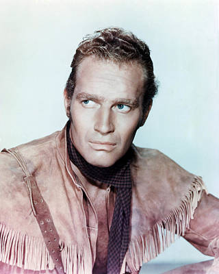 Pony Express Photograph - Charlton Heston In Pony Express  by Silver Screen