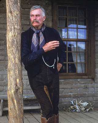 1990 Photograph - Charlton Heston In Tombstone  by Silver Screen