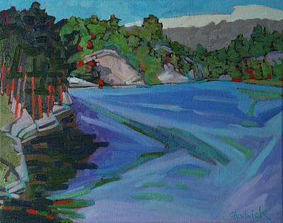 Charlton Painting - Charlton Lake Morning by Phil Chadwick