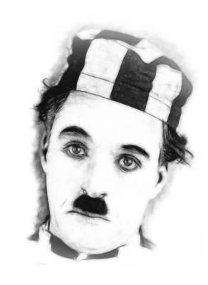 Charly Chaplin Art Print