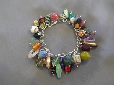 Wire Wrap Bracelet Jewelry - Charm Bracelet by Jan Durand