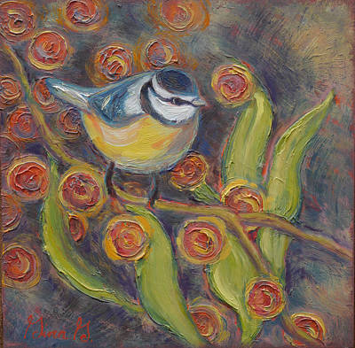 Painting - Charmed Chickadee by Gina Grundemann