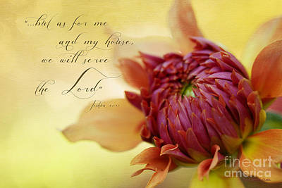 Beve Brown-clark Photograph - Charmed With Bible Verse by Beve Brown-Clark Photography