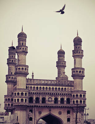 Flying Photograph - Charminar And The Pigeon by © Manogna Reddy