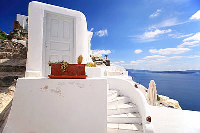 Deep Blue Photograph - Charming Architecture by Aiolos Greek Collections