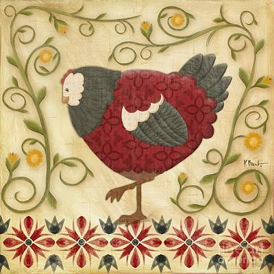 Wall Art - Painting - Charming Chicks 1 by Paul Brent