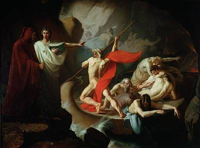 Charon Conveying The Souls Of The Dead Across The Styx, 1860 Oil On Canvas Art Print