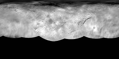 Topographical Photograph - Charon Map by Nasa/johns Hopkins University Applied Physics Laboratory/southwest Research Institute