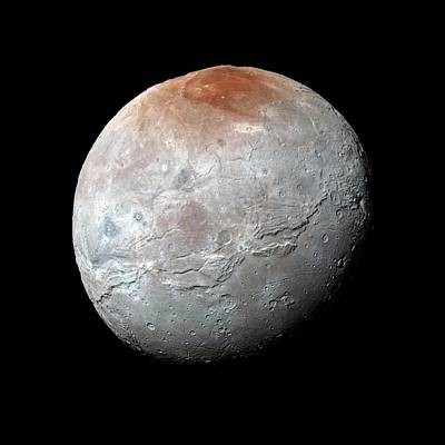 Topographical Photograph - Charon by Nasa, Johns Hopkins Univ./apl, Southwest Research Institute