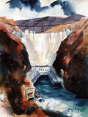 Char's Hoover Dam Art Print