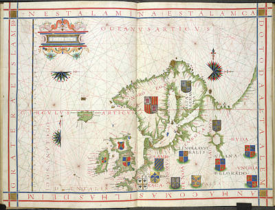 Cartography Photograph - Chart Of Northern Europe by British Library