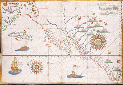 Chart Of The North Pacific Art Print by British Library