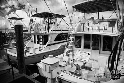 Charter Fishing Boats In The Old Seaport Of Key West Florida Usa Art Print by Joe Fox