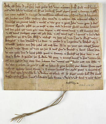 Charters Photograph - Charter Of Brenchley by British Library