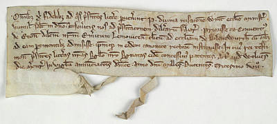 Charters Photograph - Charter Of Nuneaton Priory by British Library