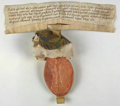Charters Photograph - Charter Of Waltham In The Wolds by British Library