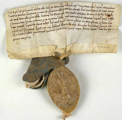 Charters Photograph - Charter Of Waltham On The Wolds by British Library