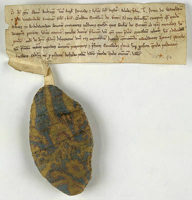 Sepulchre Photograph - Charter Relating To Marton by British Library