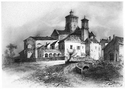 Alberto Drawing - Charterhouse Of Parma by Granger