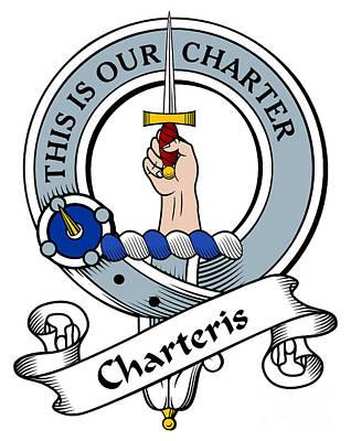 Genealogy Digital Art - Charteris Clan Badge by Heraldry