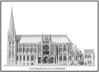 World Heritage Digital Art - Chartres Cathedral 2 by Daniel Hagerman