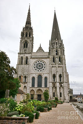 Planter Wall Art - Photograph - Chartres Cathedral And Esplanade by Olivier Le Queinec
