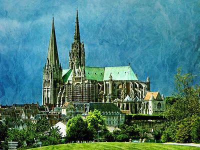Chartres Photograph - Chartres Cathedral by Nikolyn McDonald