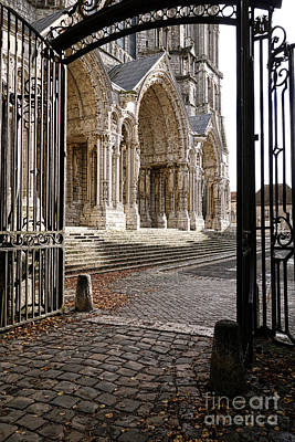 Medieval Entrance Photograph - Chartres Cathedral North Transept by Olivier Le Queinec