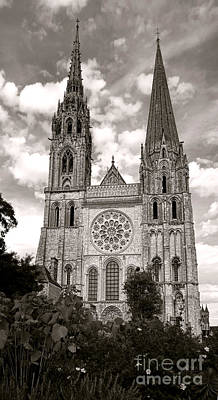 Chartres Cathedral Art Print by Olivier Le Queinec