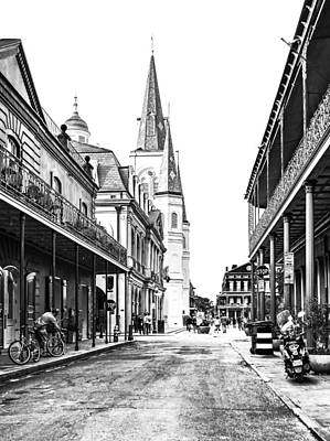 Antique Photograph - Chartres St In The French Quarter 3 by Steve Harrington