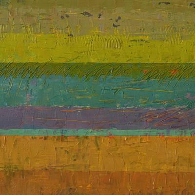 Chartreuse Line Art Print by Michelle Calkins