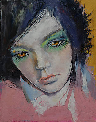 Manga Painting - Chartreuse by Michael Creese