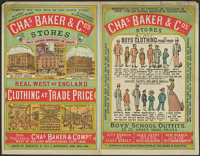 Chas Baker And Co. Stores Art Print by British Library