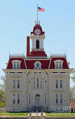 Flint Hills Of Kansas Photograph - Chase County Courthouse In Kansas by Catherine Sherman