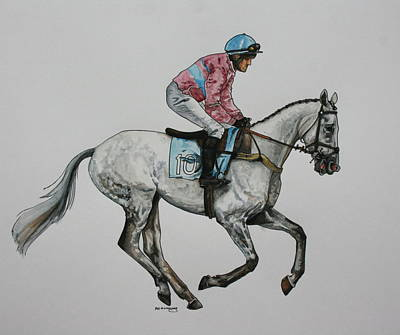 Sporthorse Painting - 'chaser Ten by Beth Munnings