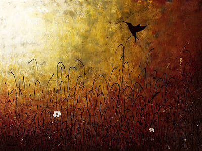 Hummingbirds Painting - Chasing The Light by Carmen Guedez