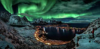 Winter Roads Photograph - Chasing The Northern Lights by Javier De La