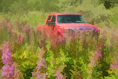 Chasing Wildflowers Art Print