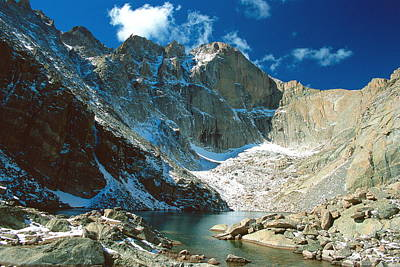 Rockies Photograph - Chasm Lake by Eric Glaser